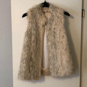 Rachel Zoe Fur Vest, White (faux)